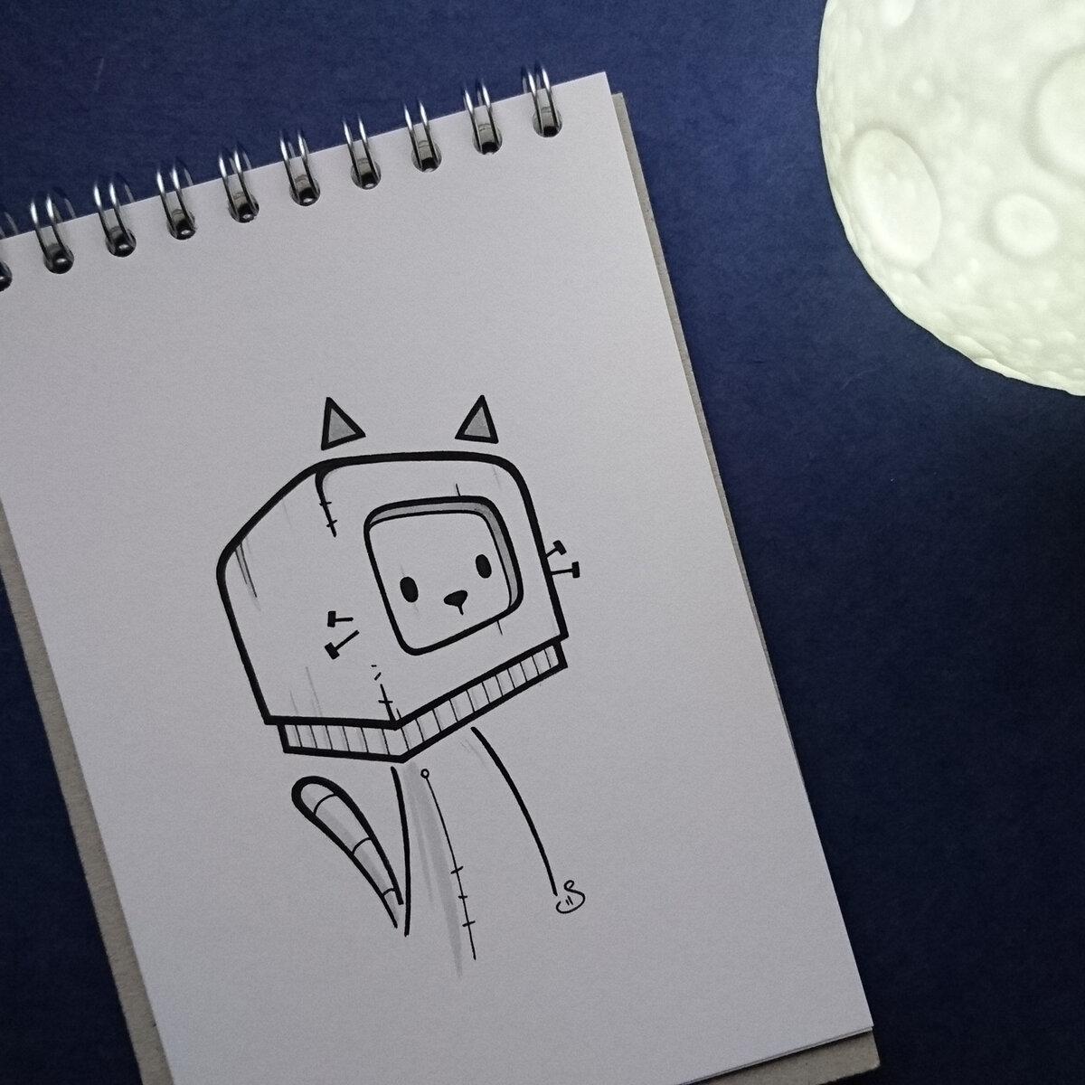 Прикольные и легкие рисунки для срисовки для скетчбука