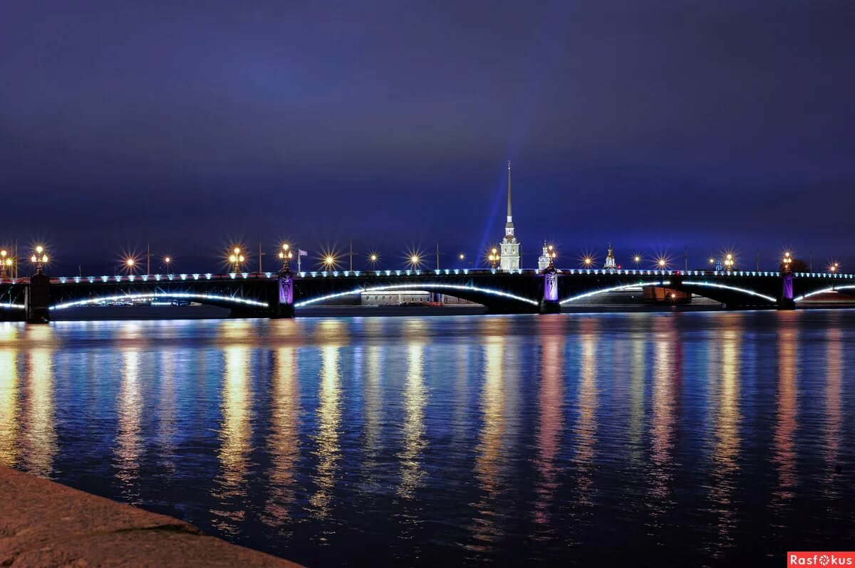 Ночной санкт петербург картинки