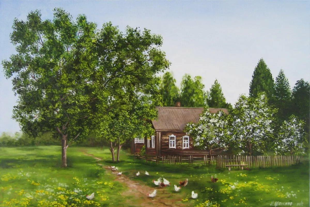 Картинки надписями, картинки деревенские пейзажи летом
