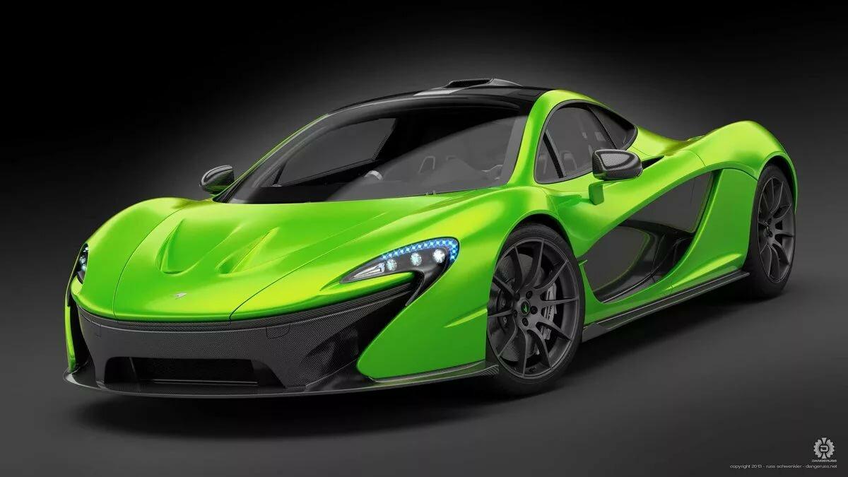 Картинки красивых зеленых спортивных машин