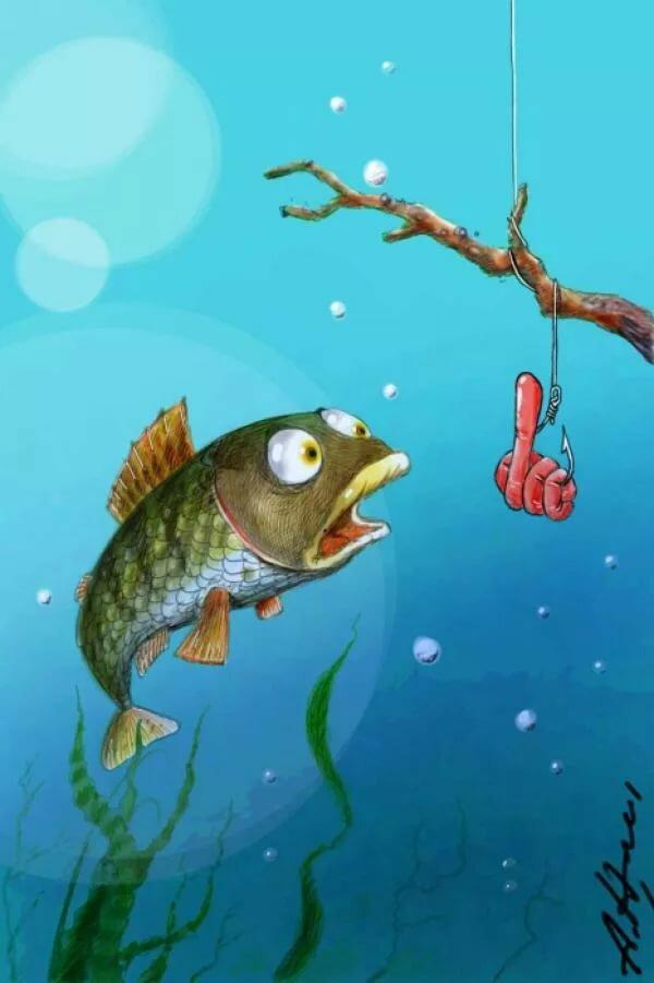 Рисунки прикольных рыб, признание любви мужчине