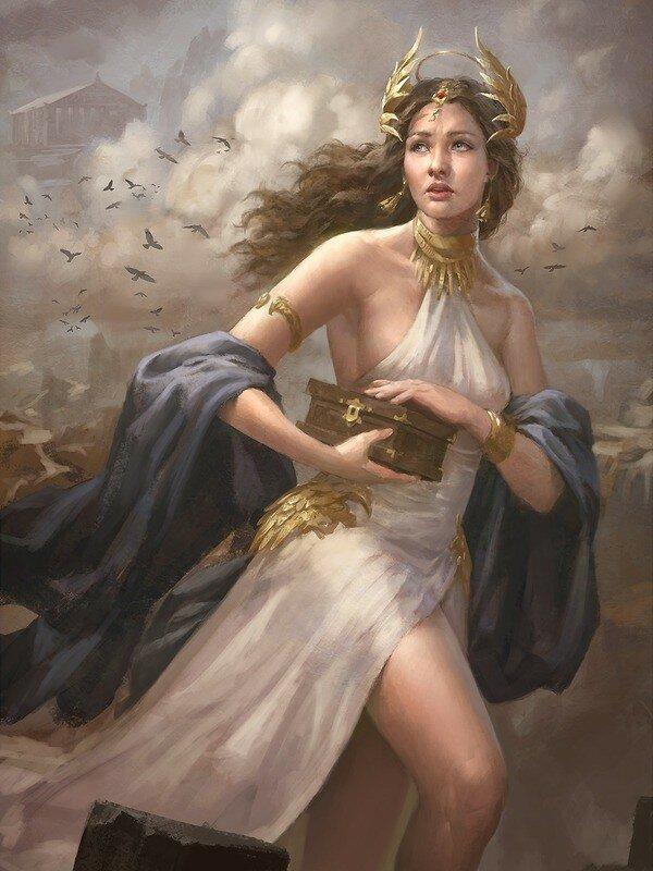город, картинки фэнтези древняя греция золотом дизайне