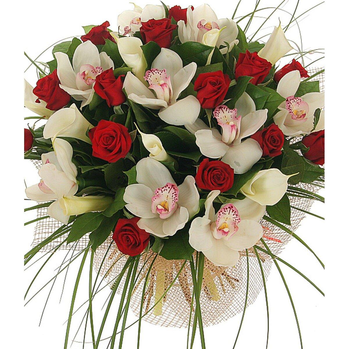 Магазинов, букет на юбилей из роз