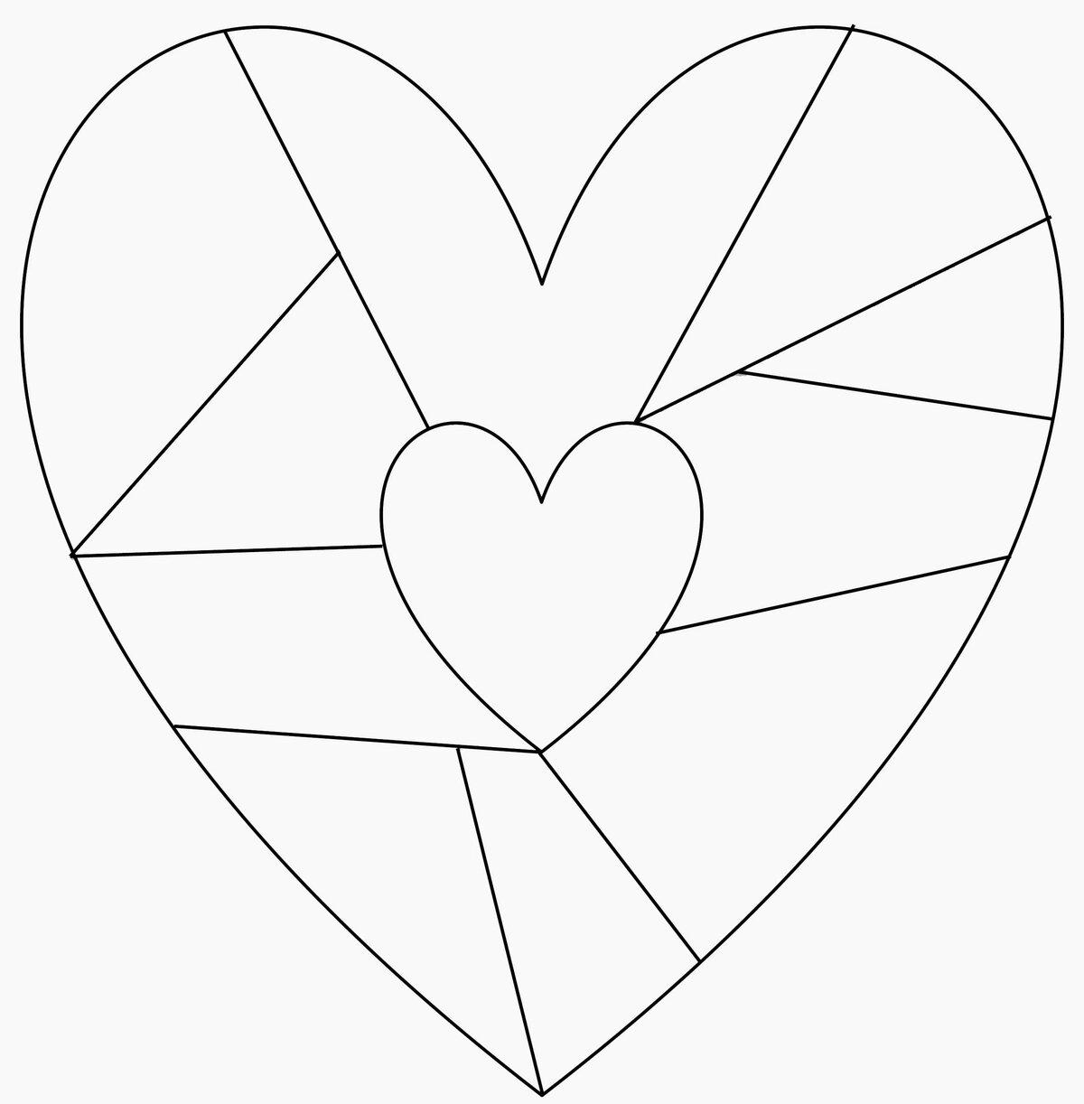 Как вырезать открытку сердце
