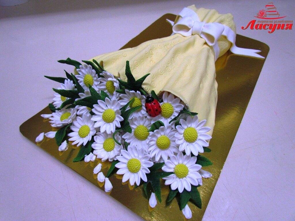 торт букет цветов из мастики фото подходит для