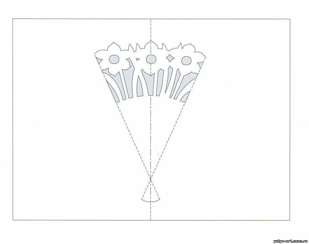 Открытка из бумаги схема, картинки для