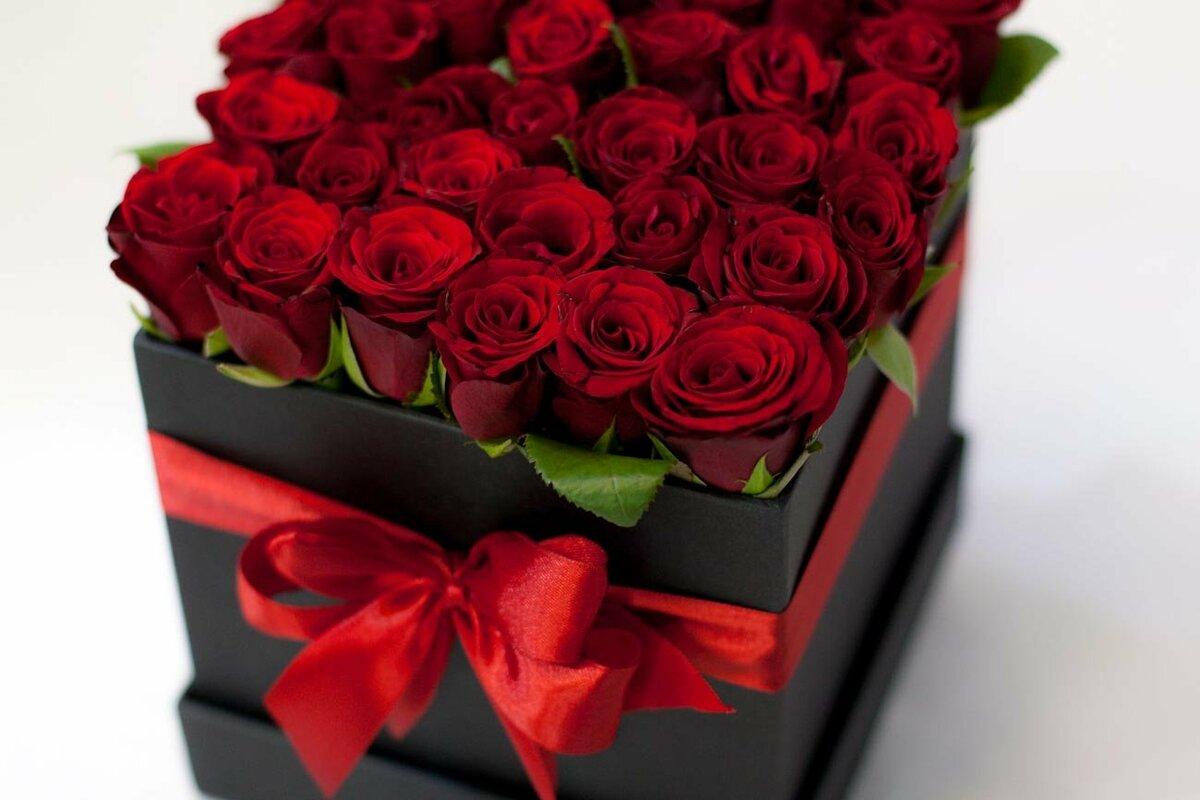 Картинки с днем рождения цветы красные