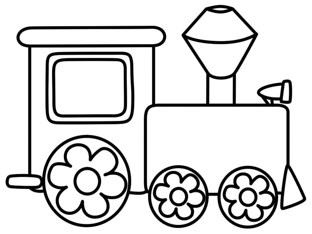 рисунок вагончики поезда