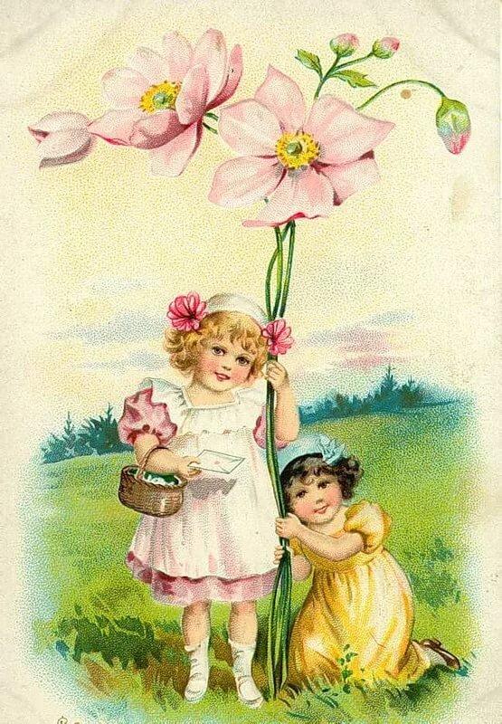 Старые открытки с днем рождения с детьми допросе