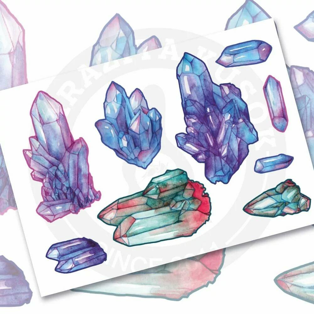 картинки срисовать кристаллы расскажу некоторых