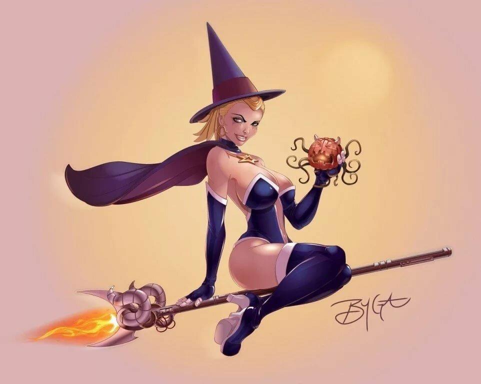 Картинки смешных ведьмочек