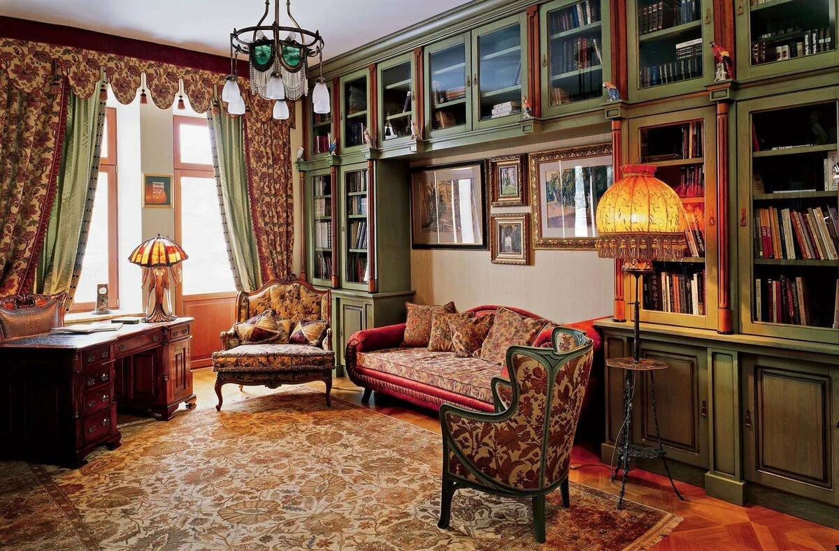 фото квартир с антикварной мебелью тут есть