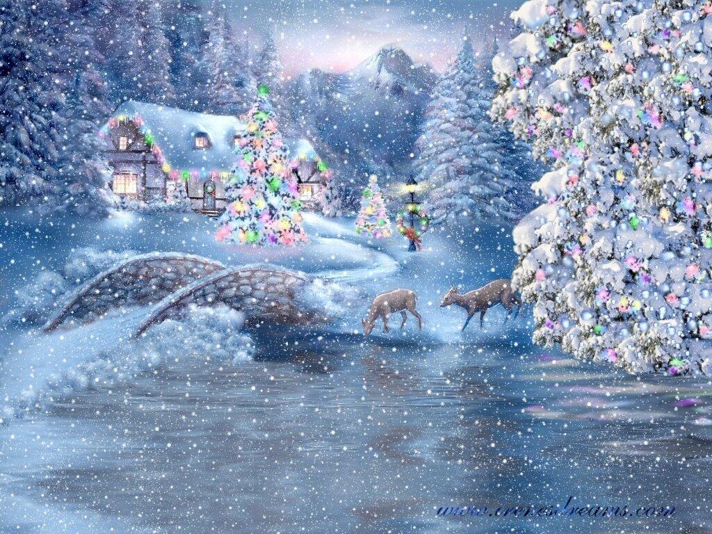 картинки снежная волшебная зима кадры для речного