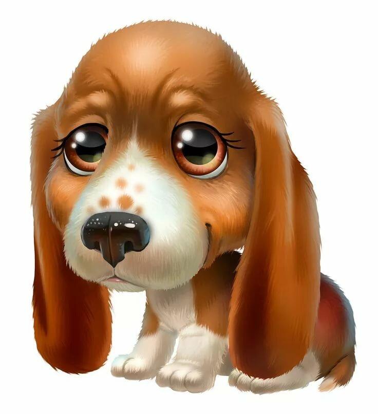 Прикольные собаки в картинках и рисунках, поздравительные открытки днем