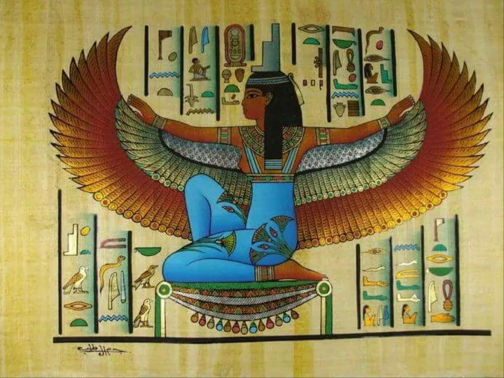 Исида египетская богиня картинки