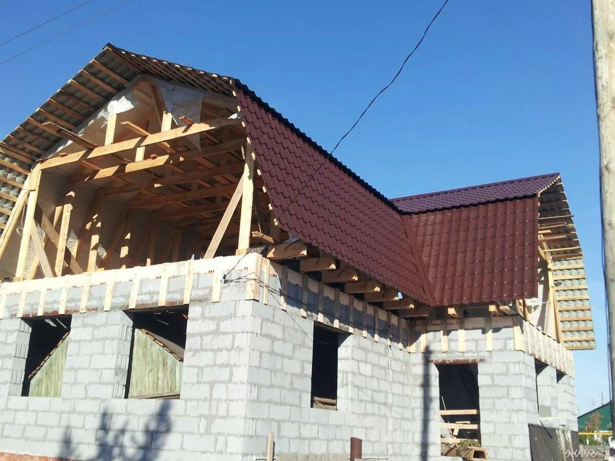 т образная ломаная крыша показать фото множество различных
