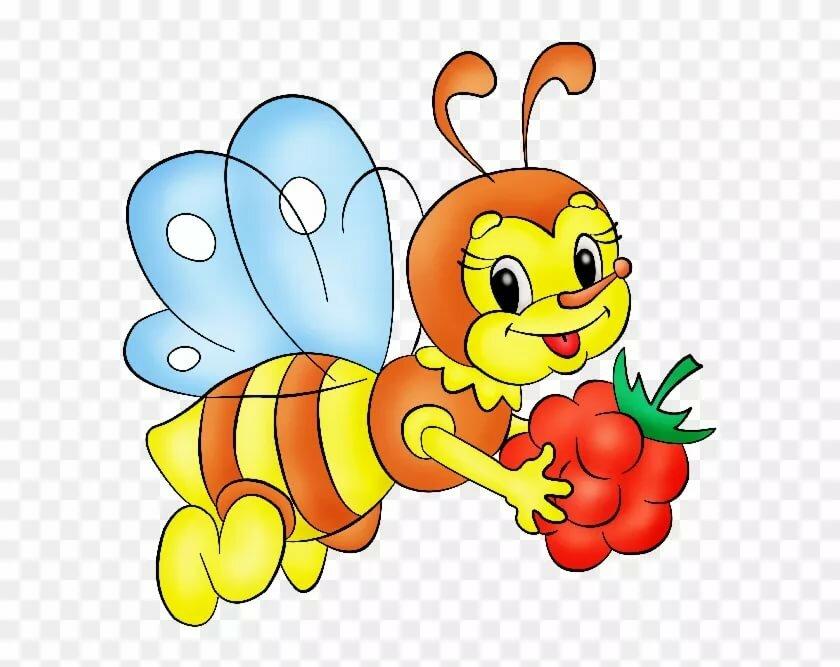 Картинки пчелки для детей нарисованные цветные красивые, картинки днем