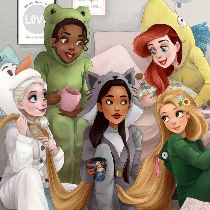 Цветами нежные, картинки с принцессами диснея в новом виде в современных условиях