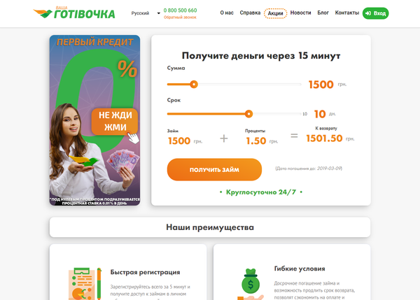 кредит онлайн без регистрации карты кредит сотрудникам ип