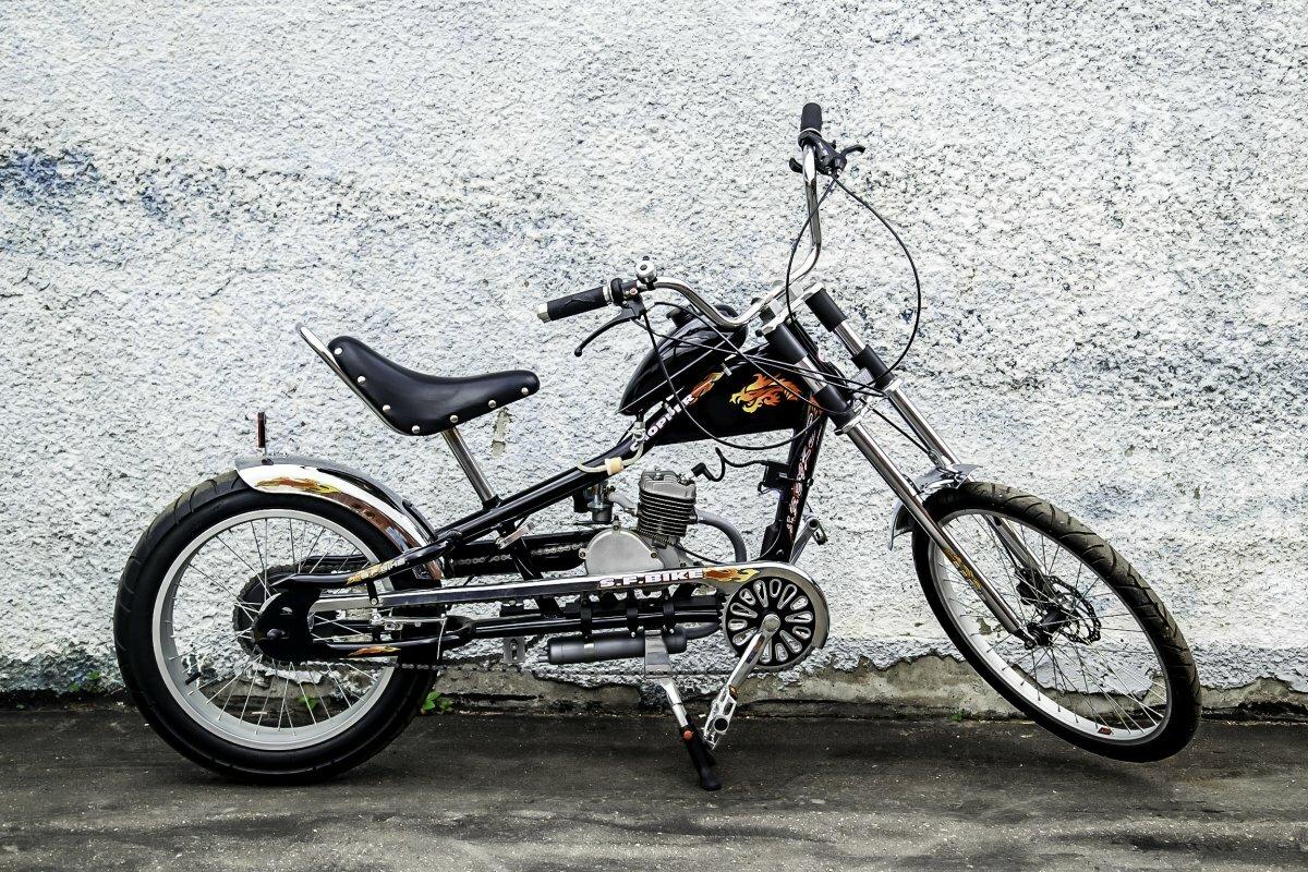 Велосипед-чоппер с мотором