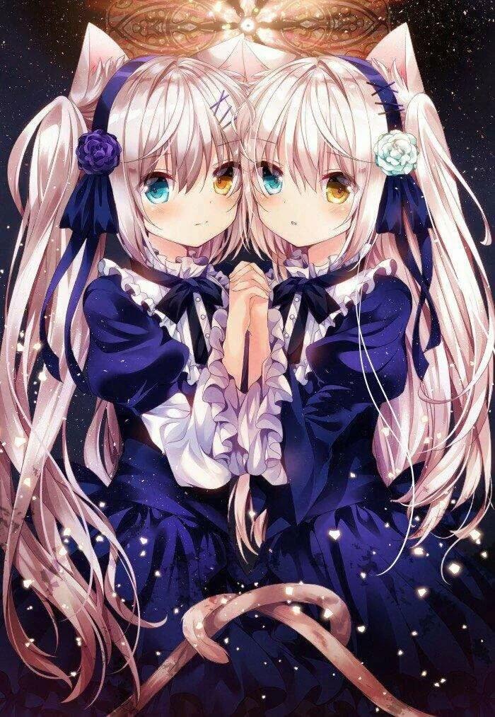 Аниме картинки близняшки