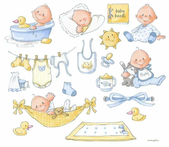 Картинки для фотоальбома новорожденного, дню