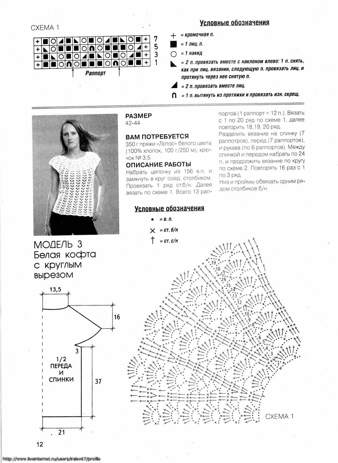 Модные кофты крючком со схемами картинки тому