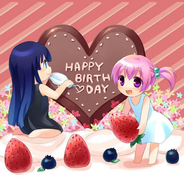 Картинки, с днем рождения сестренка открытки аниме