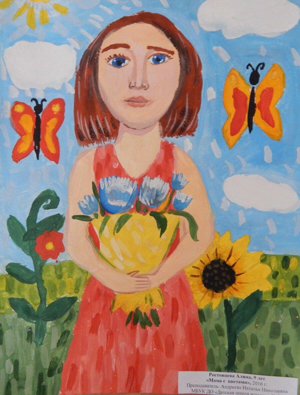 Рисунки картинки маме