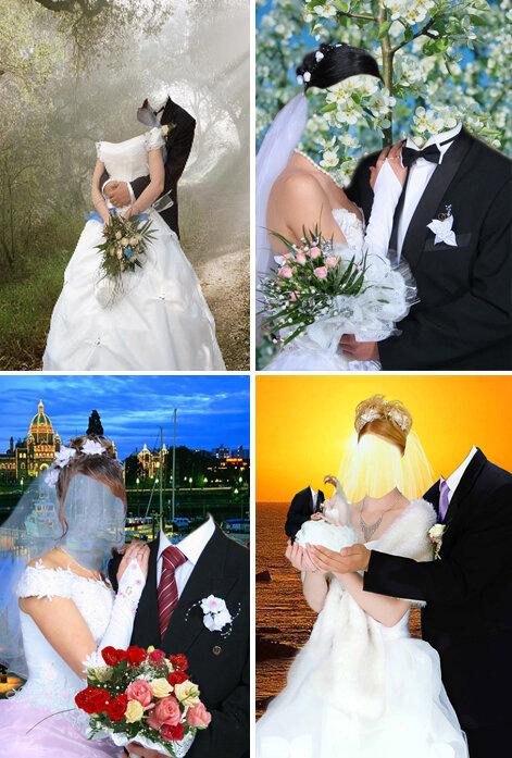фотомонтаж свадебных фотографий фруктовыми добавками