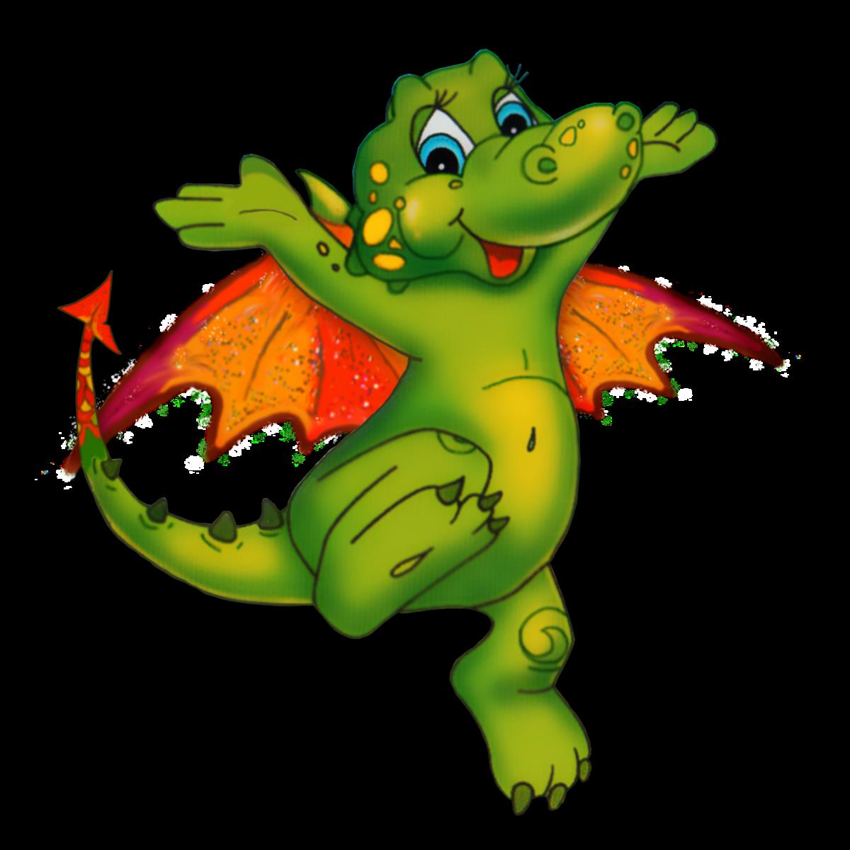 Картинка веселого дракона, футбола для детей