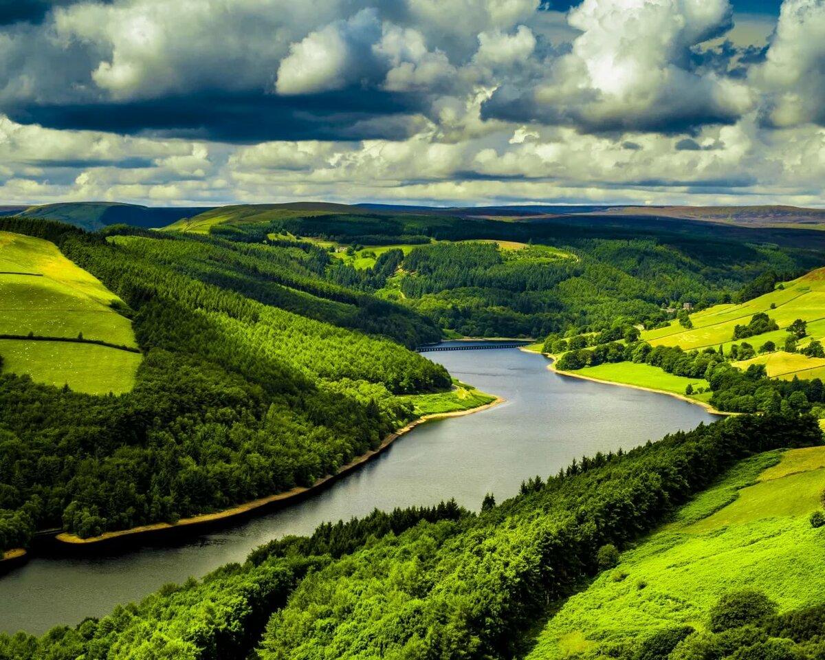 Картинки поля с рекой