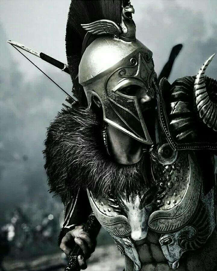 картинка воин в шлеме