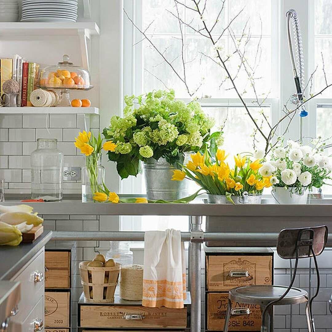 Картинки цветов для дизайна кухни фото
