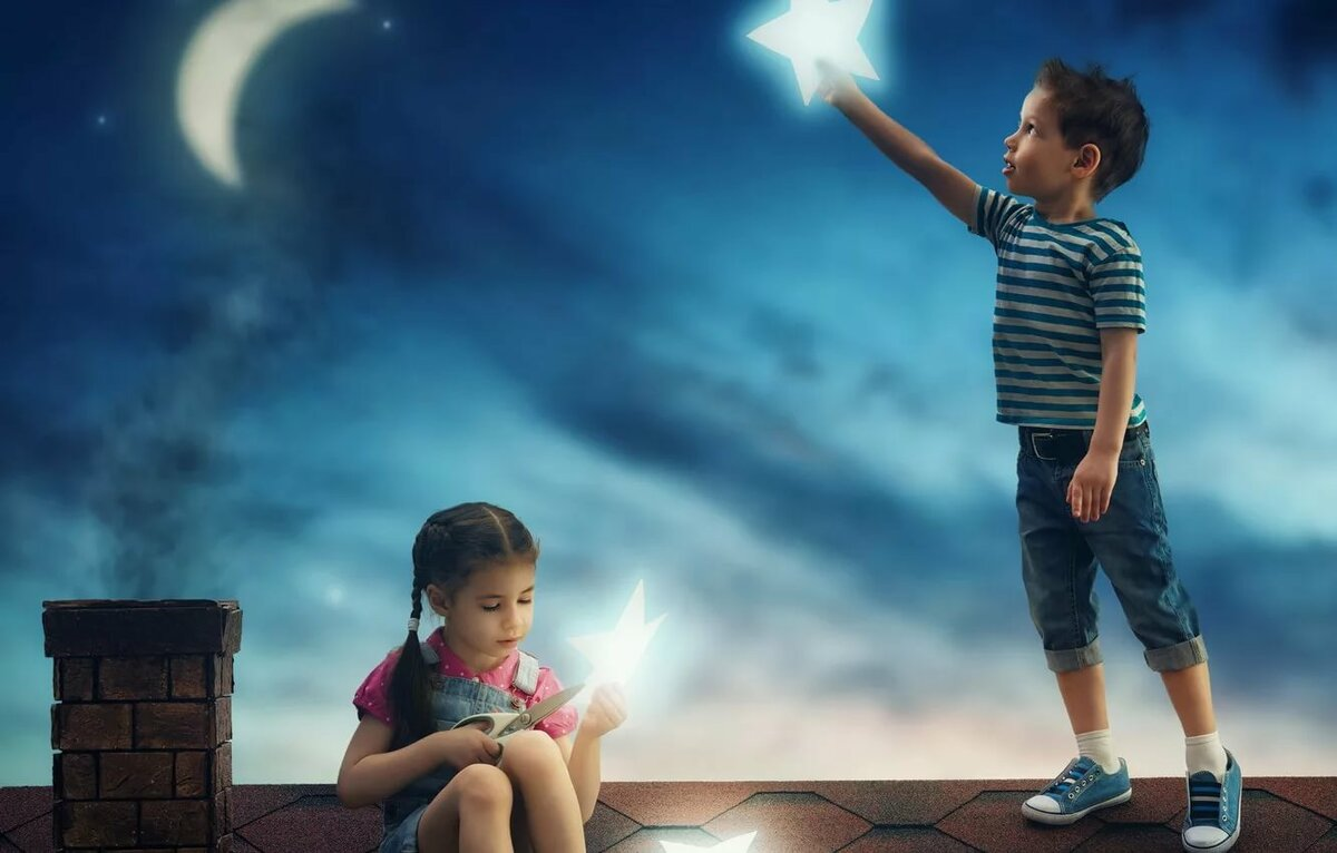 Дети на небе картинки