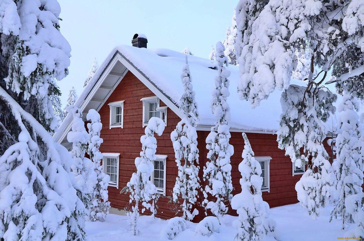 картинки рабочего стола дом зимой эту подборку