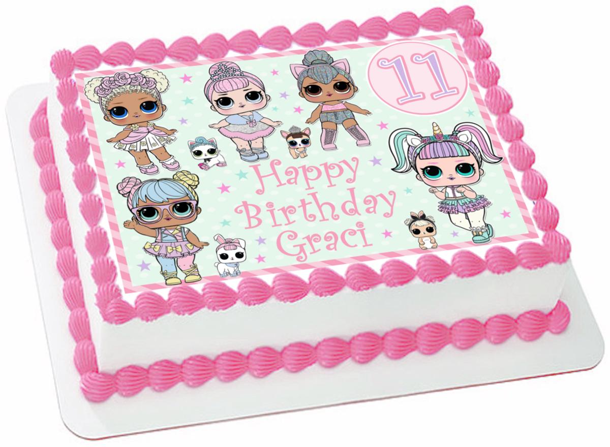 картинки торт куклы лол