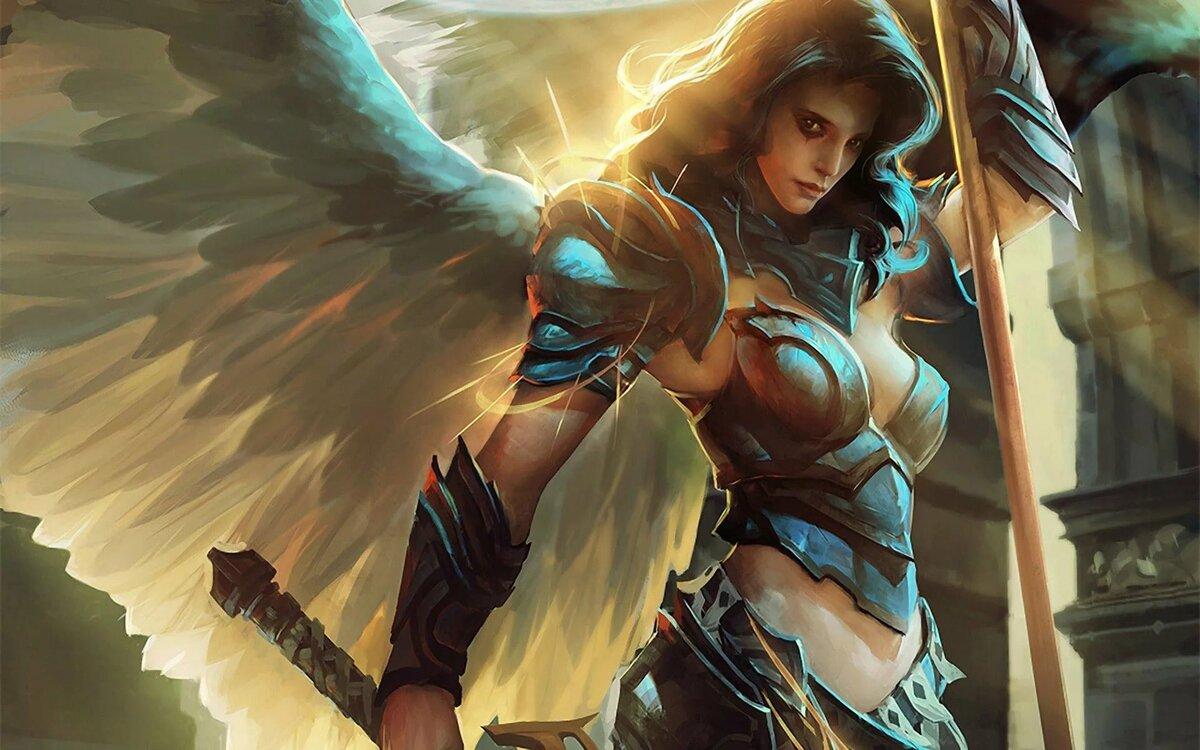 Ангел в доспехах картинки