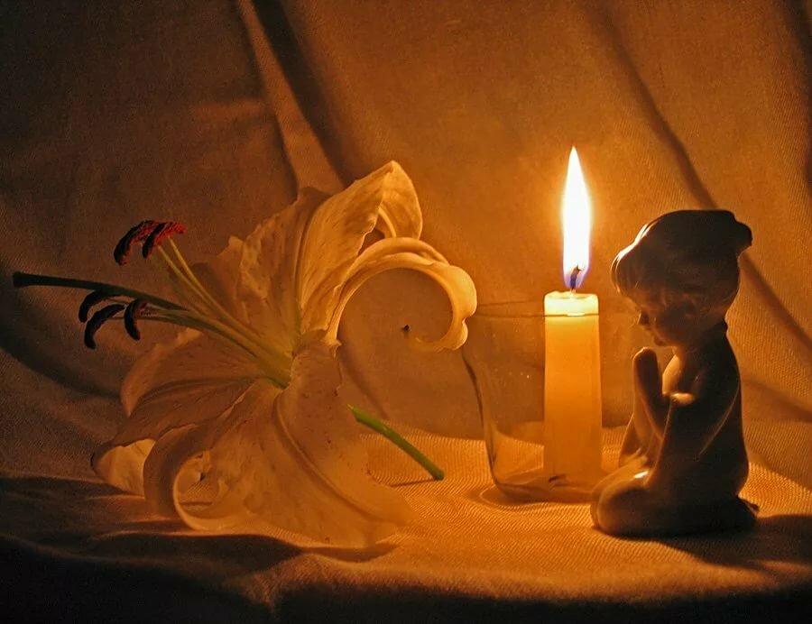 Картинки с поминальной свечой