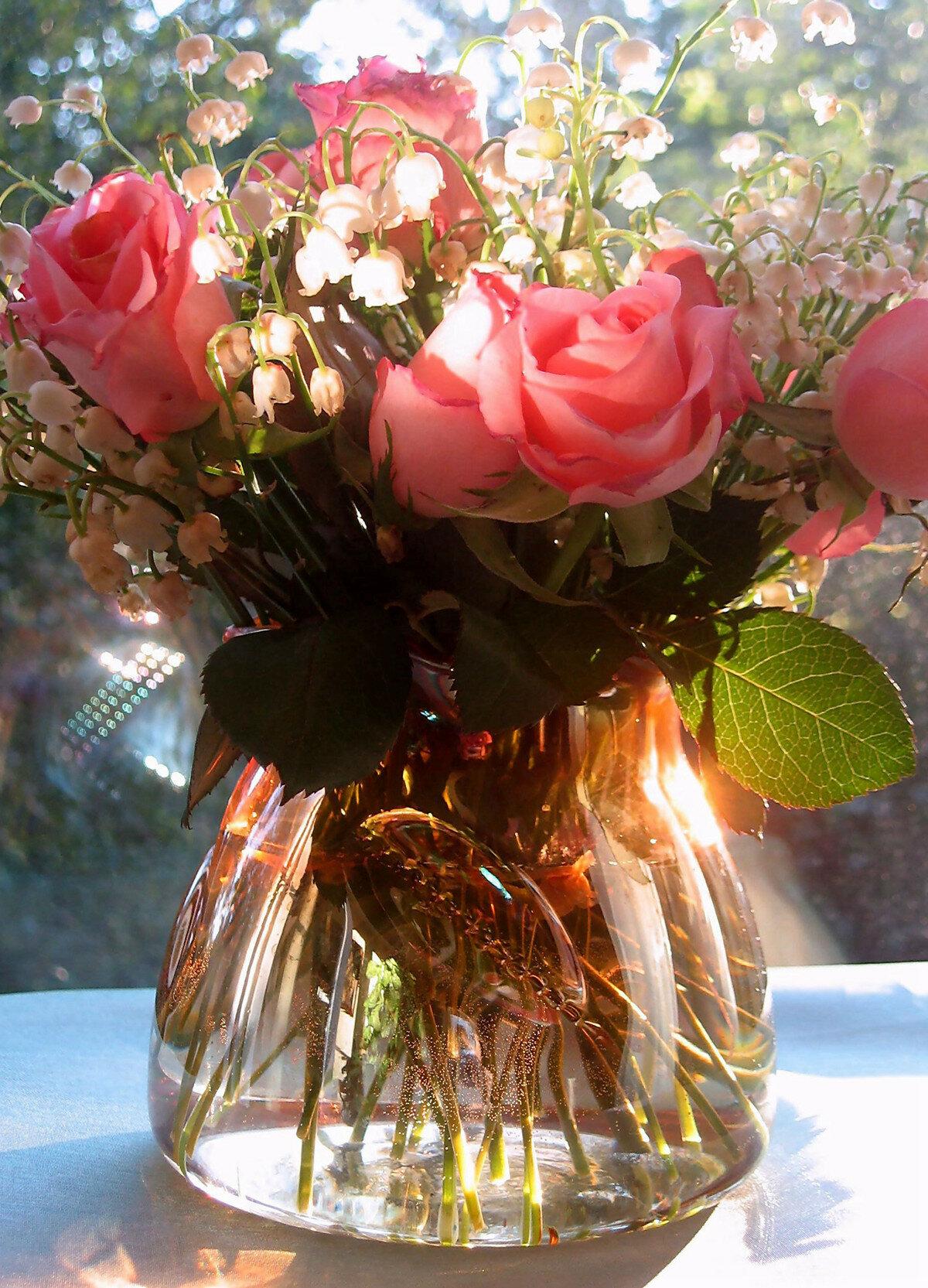 букет цветов фото в вазе этом разделе