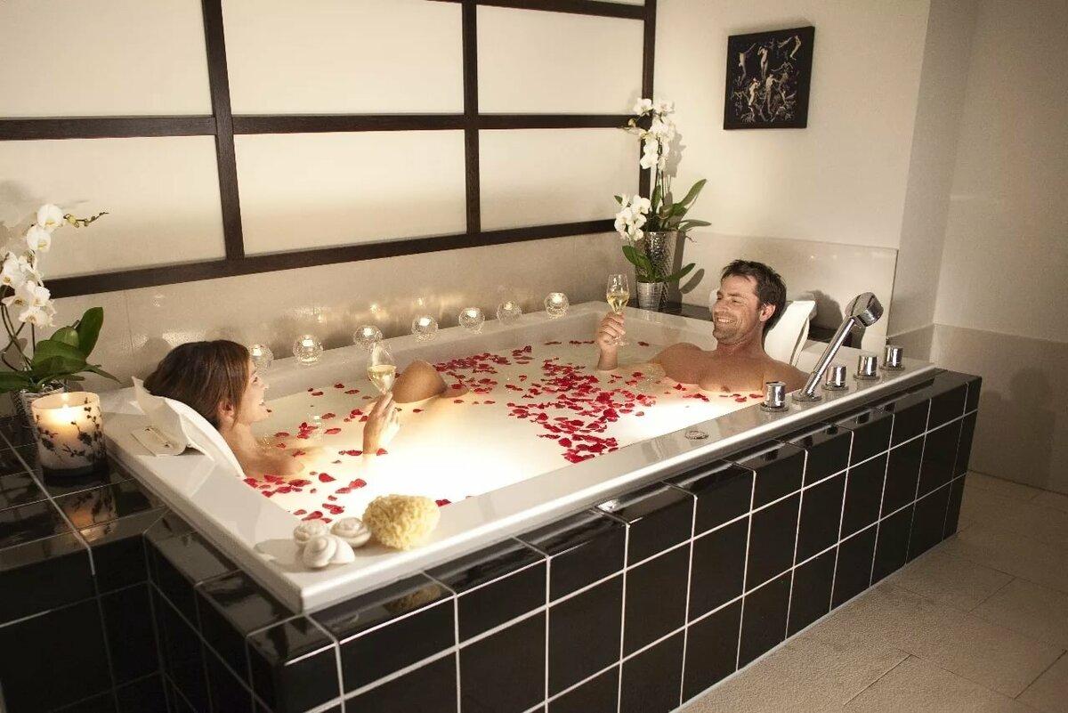 Картинка в ванной романтик