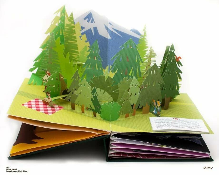 Книга 3д открытки, рождеством католическое