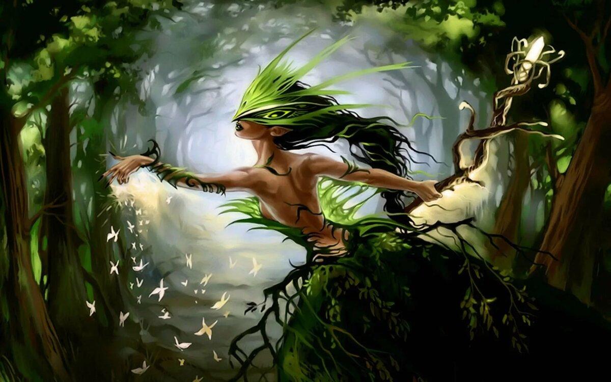 Киндеров, рисунок эльфы в лесу