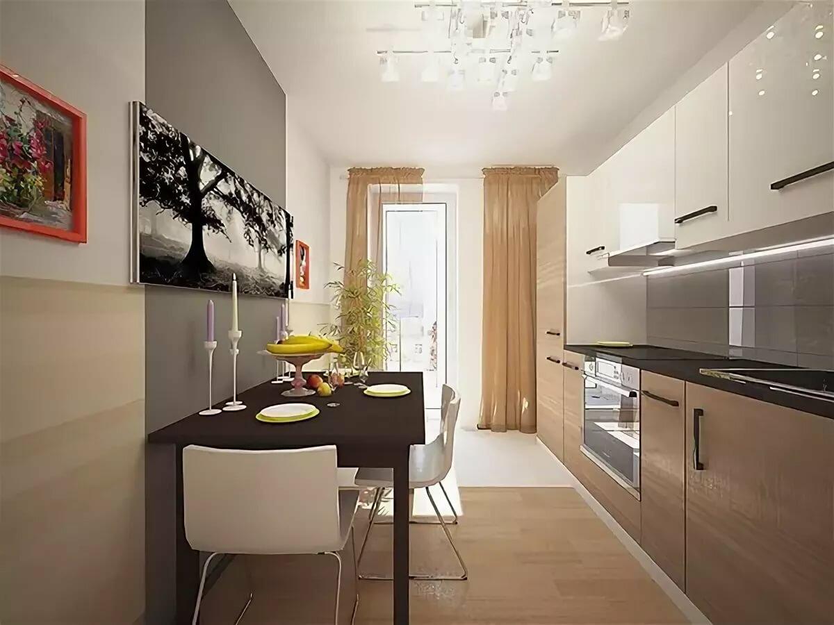 дизайн кухни прямоугольной в картинках как приготовить булочки