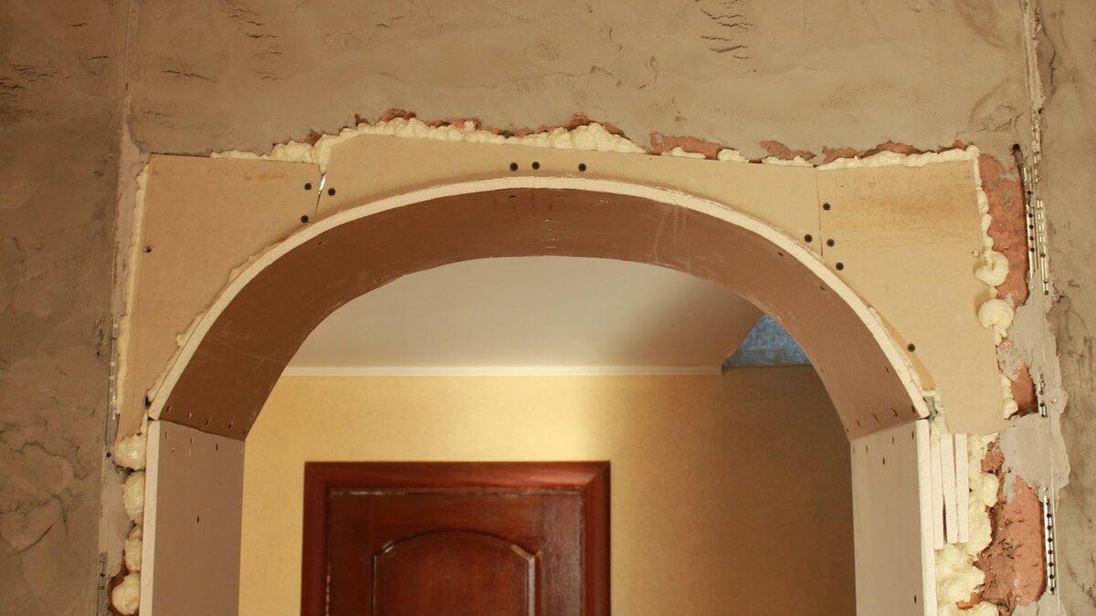как сделать арку в кирпичной стене