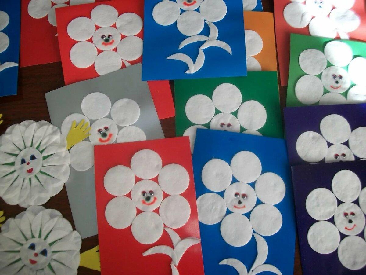 Поделки картинки из ватных дисков