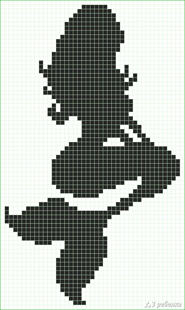 Черно белые картинки по клеточкам в тетради