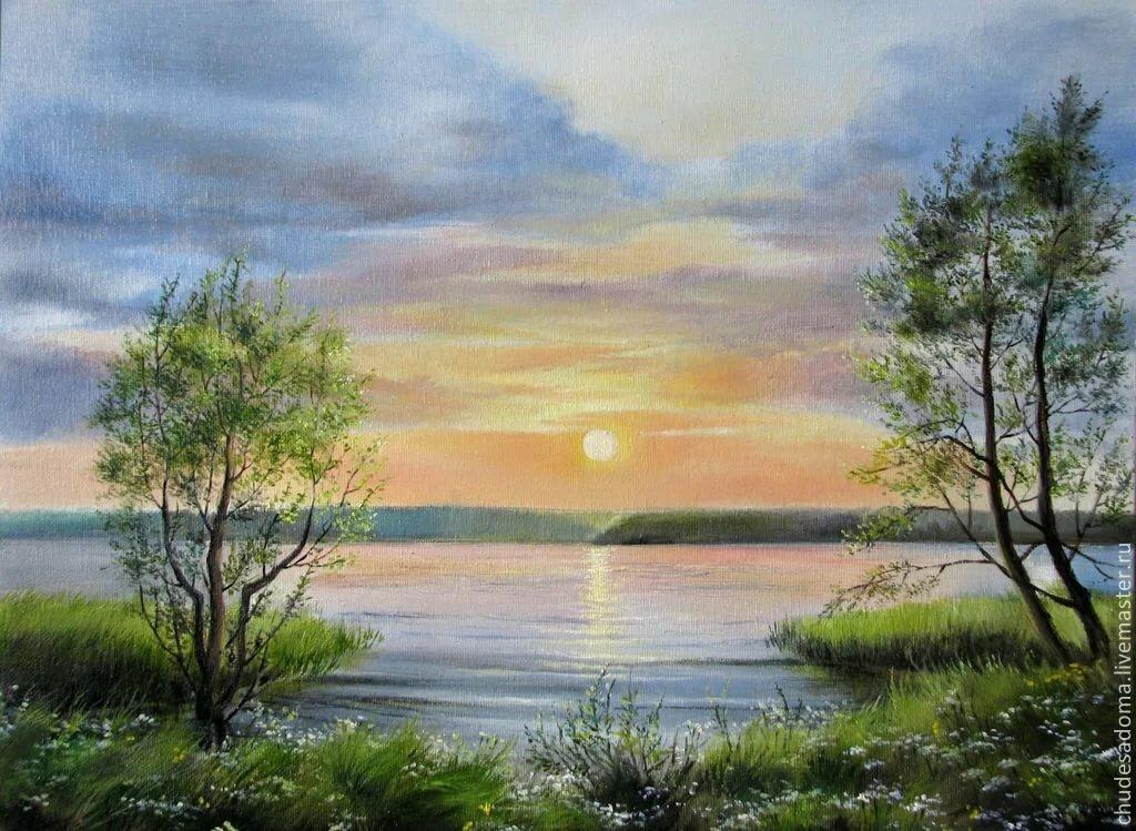 Красивые пейзажи картинки или рисунки гуашью
