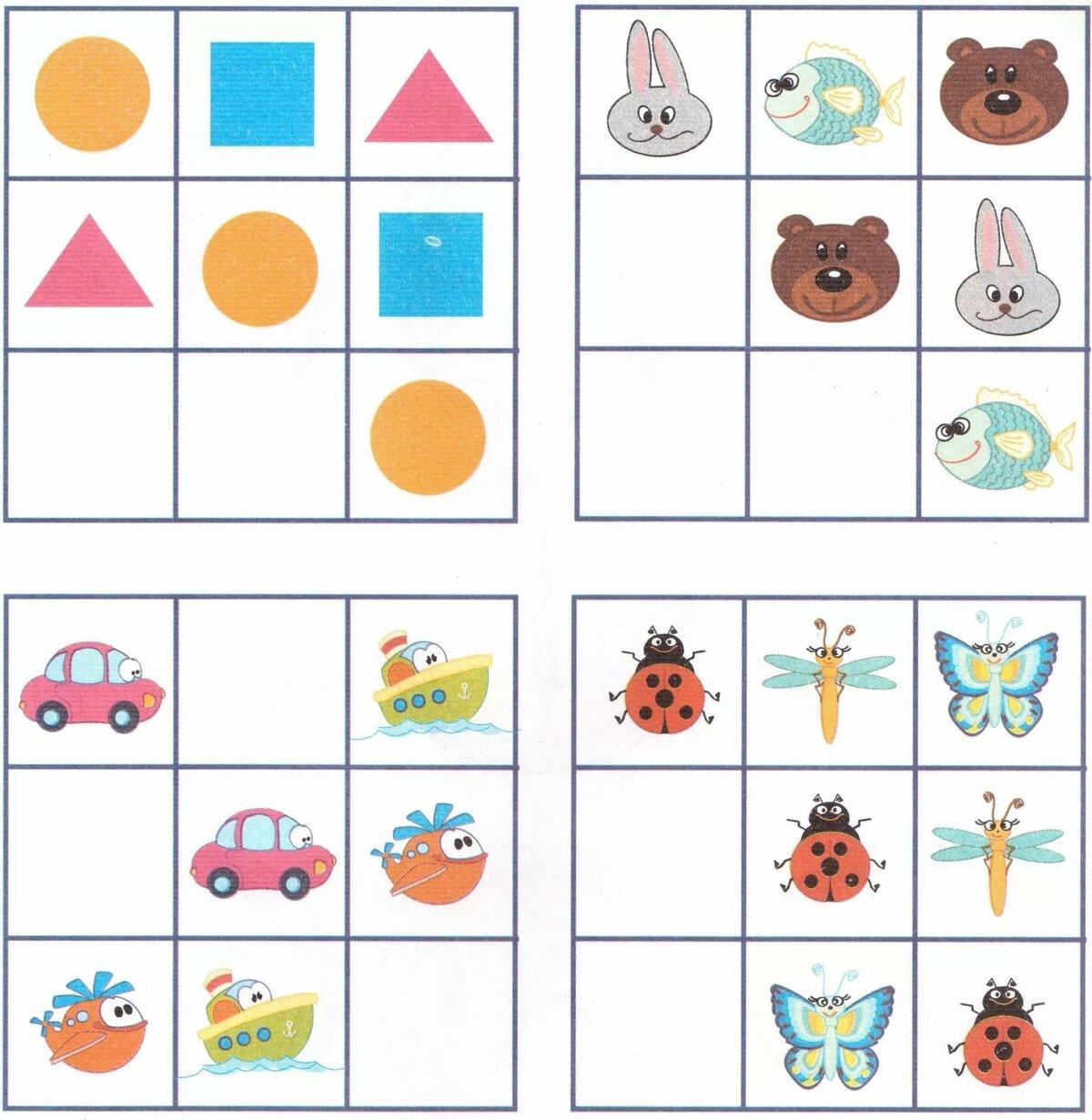 игры по логическому мышлению с картинками помогает понять, какую