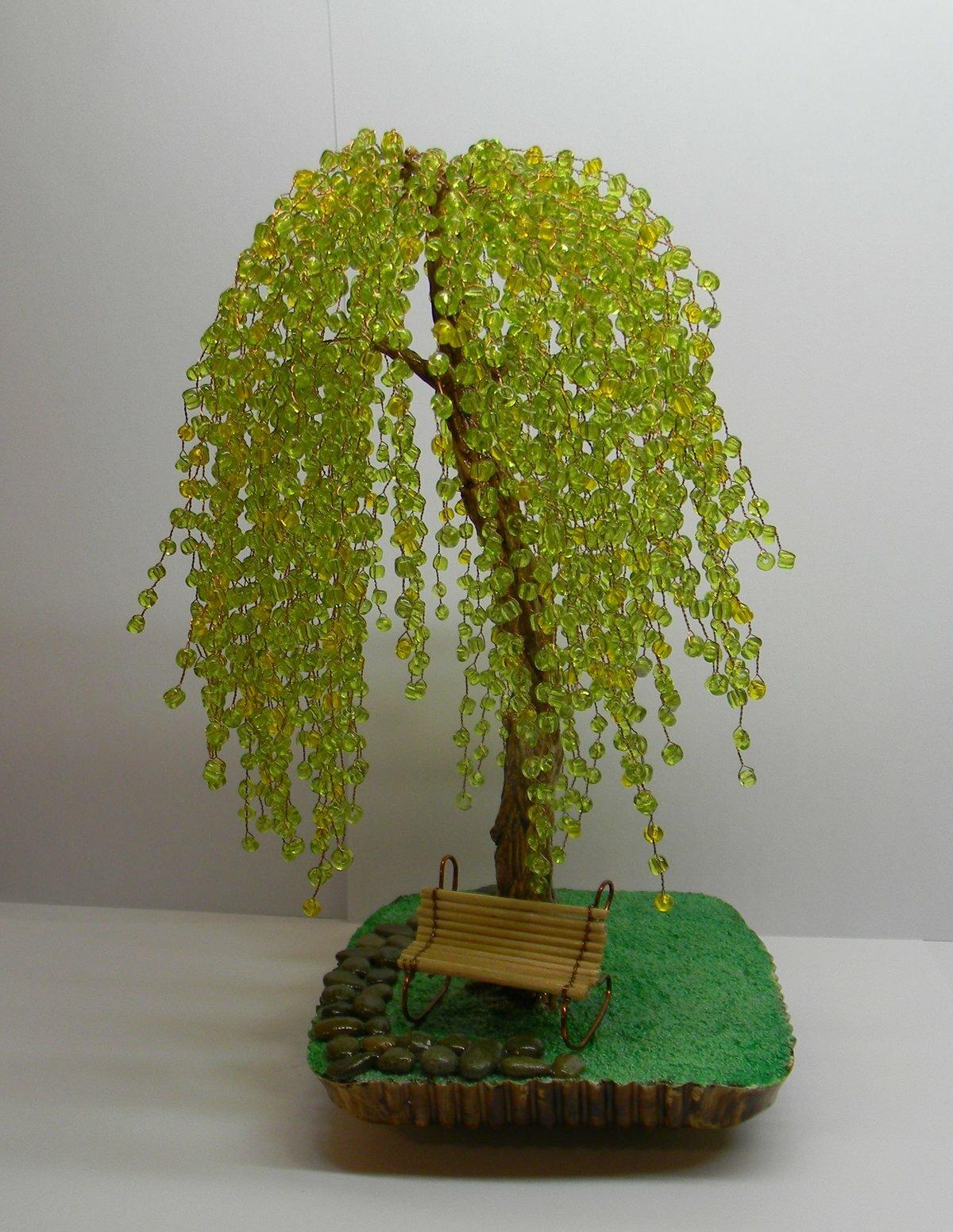 Картинки плетение дерева из бисера